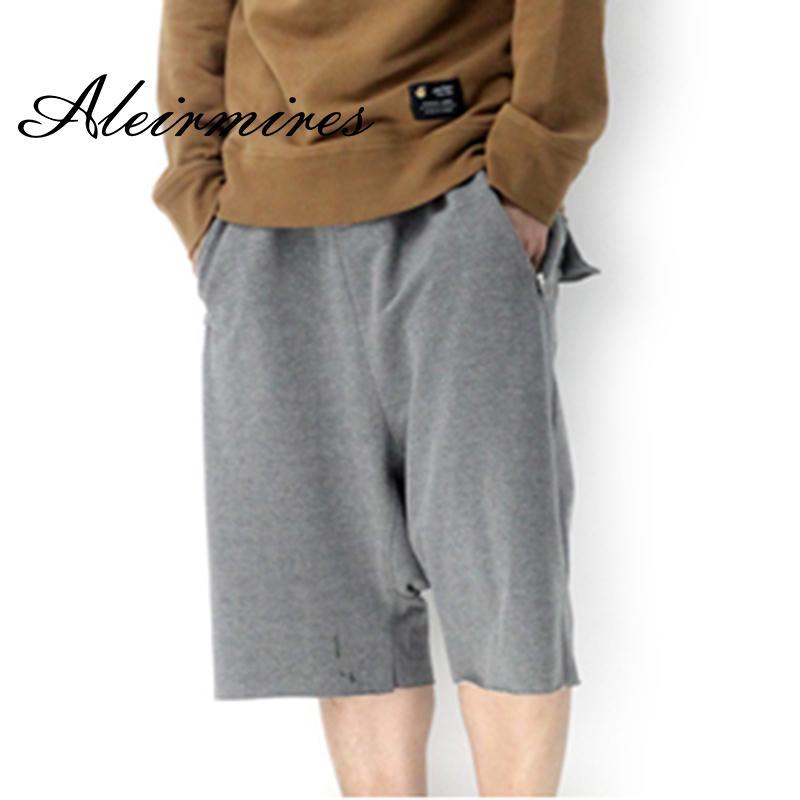 afb66e688590 Acquista Uomo Hip Hop Harem Shorts Tasche Con Cerniera Finte Casual Cavallo  Basso Pantaloncini Da Pirata Tinta Unita Pantaloni Larghi Da Strada Plus  Size A ...