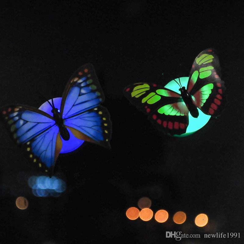 Creative Colorful Butterfly Night Light Baby Bedside Lamp Bedroom Romantic Decoration Night lights Illuminate Butterflies Lights