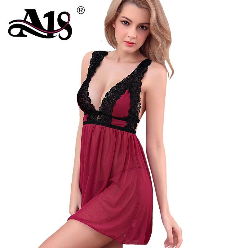 4981aec39ebc A18 Sexy Transparent Women Exotic Dress Sets Hot Exotic Lingerie Women  Exotic Apparel Ladies Home Lace Chiffon Pajamas S18101509 Bra Panty Set  Lingerie ...