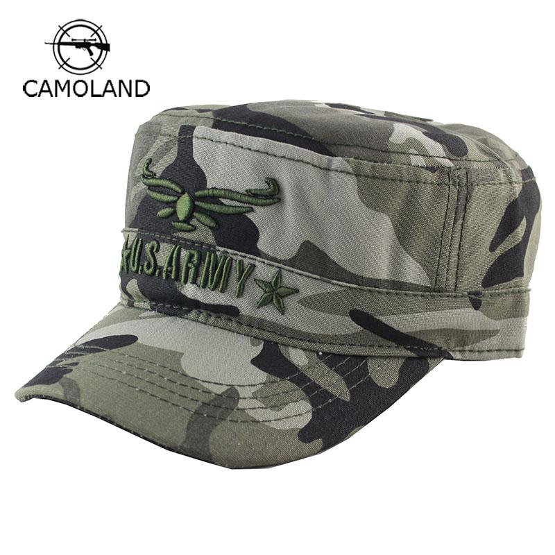 b5af06de4cb 2018 New Camo Flat Cap US Army Cap Men Women Baseball Camouflage Male  Female Snapback Bone Tactical Outdoors Sport Hats The Game Hats Baby Caps  From ...