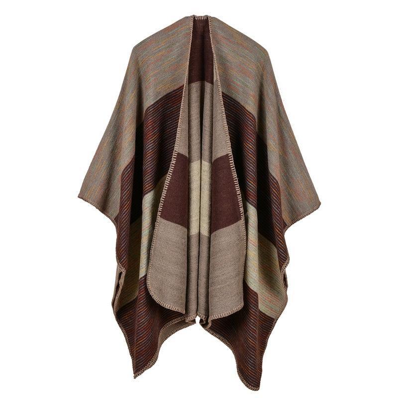 2018 donne di marca sciarpa di alta qualità plaid in cashmere invernale poncho e mantelle di spessore caldo maglia signora pashmina stole