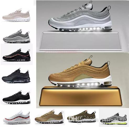 clearance very cheap sale purchase Zapatos 97 Shoes Triple White Black Pink Running Shoes Og Metallic Gold Silver Bullet Mens Trainer Women Sports Tennis Shoes Size 36-46 cheap sale buy cheap sale cost buy cheap best wholesale UmS3s1D3vR