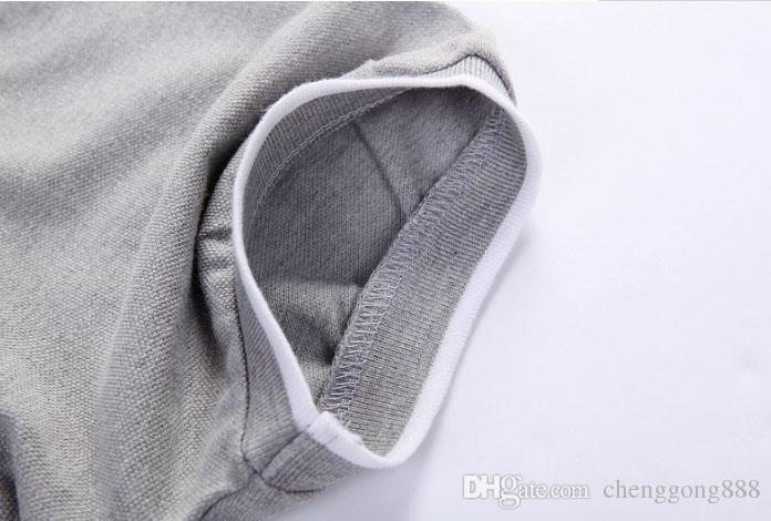 Marka Casual Polo Gömlek Erkekler Pamuk Yeni Lüks Nakış Yaz Kısa Kollu Gömlek Erkek Büyük Boy S-5XL Polo Erkekler