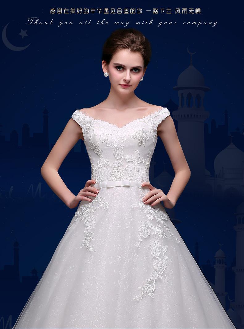 High Customized Embroidery Summer Lace Wedding Dress V-Neck Organza Tulle Princess Wedding Ball Gown Dress Big Sweep Train Flower Dress W06