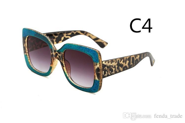 HEISSE 0083 Art und Weisefrauen-Sonnenbrille 5 Farbenrahmen glänzendes Kristallentwurfsquadratischer großer Rahmen heiße Dame Entwurf UV400 Linse Qualität A +++ MOQ = 10