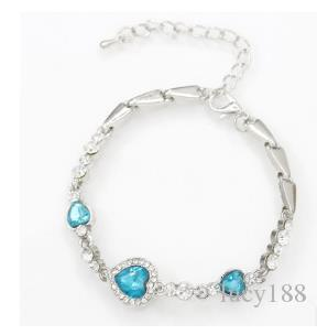 bracelets fashion the heart of the ocean crystal bracelet with women's fashion zircon hearts Jewelry accessories
