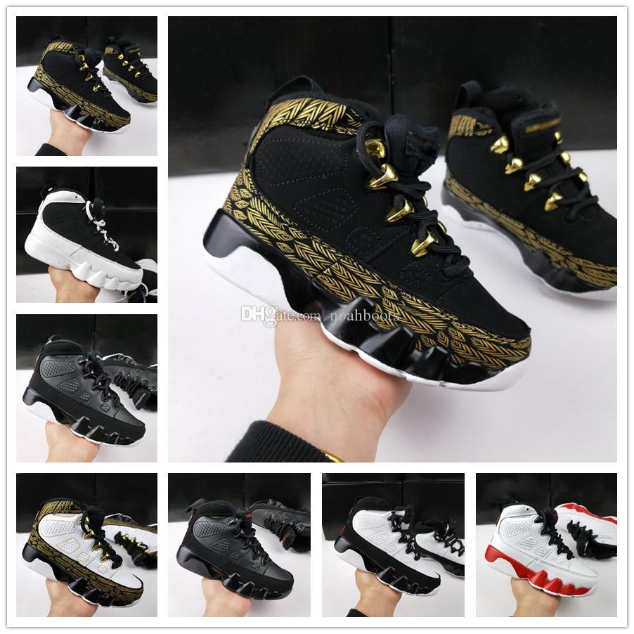 54fd644927120 Acheter Nike Air Jordan Aj9 2018 Airl 9 IX Bred LA Enfants Chaussures De Basket  Ball Enfants Designer Space Jam Barons GS Noir Oero Chaussures De Sport Pour  ...