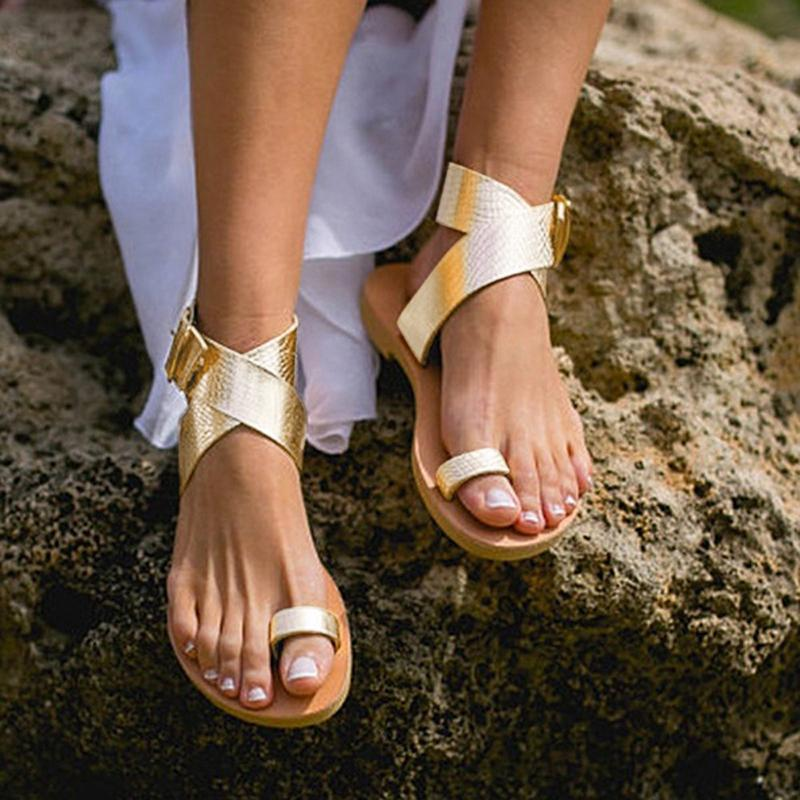 d10b4fe75bcad3 2018 Fashion Women Sandals Summer Cross Belt Rome Strappy Gladiator Low Flat  Shoes Open Toe Beach Sandals Shoes 8H0162 Girls Sandals White Sandals From  ...