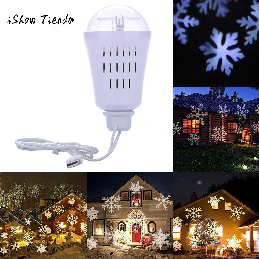snowflake laser light projection projector landscape led rotate light bulb lamp outdoor christmas tree home navidad party decor christmas lawn decoration