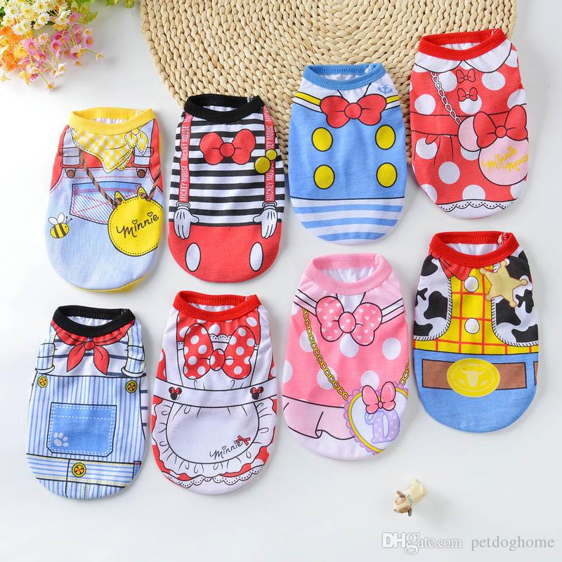 105fc18be 2019 Cartoon Dog Vest Summer Clothes For Dogs Shirts Cotton Small Medium  Dog Clothes Summer Pet Shirts For Dogs Costume Cat Clothing From  Petdoghome