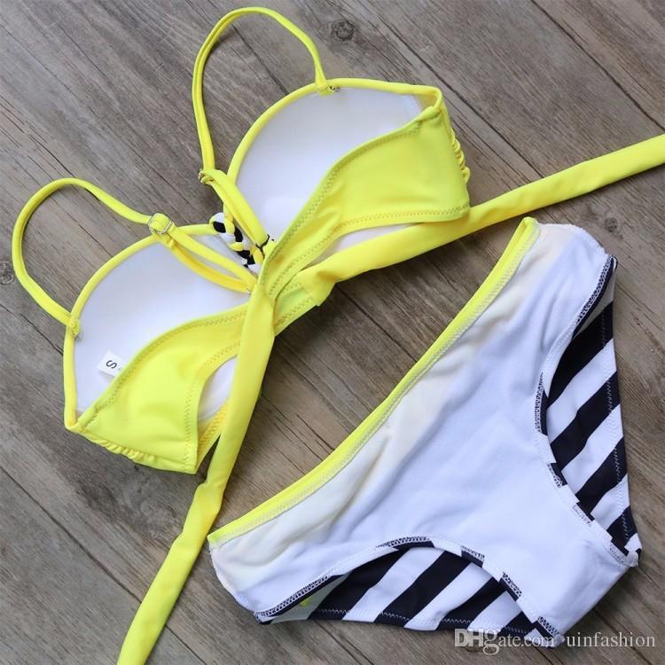 2018 Fashion Swimwear Bikini Swimsuit Sexy Push Up Female Summer Bikini Set Swimwear Padded Women Swimsuit