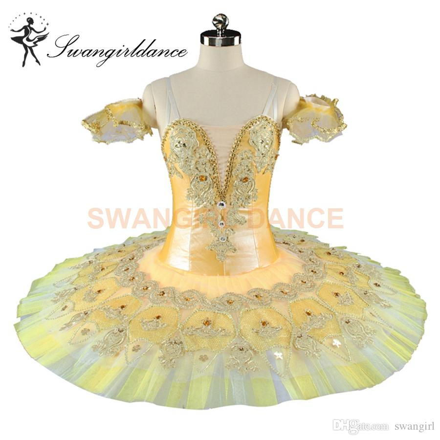 9d393cb9b 2019 Adults Nutcracker Professional Ballet Tutus Gold Competition  Performance Tutu Costume Women Platter Pancake Ballet Tutu BT9155 From  Swangirl, ...