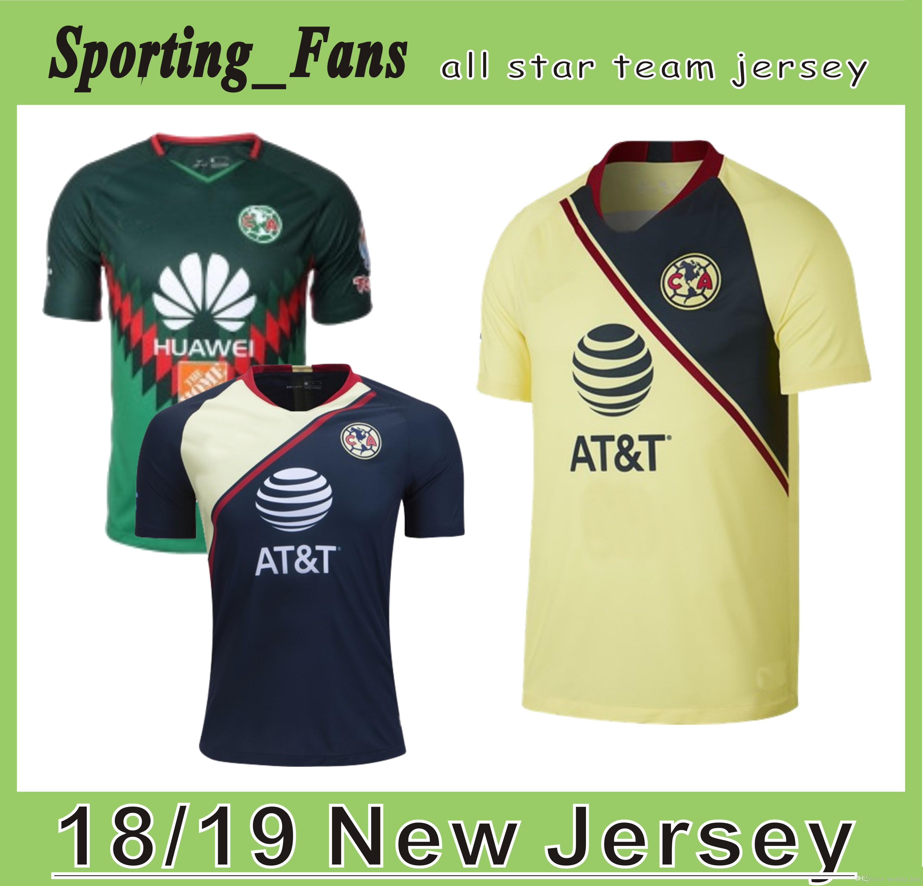 2019 Club De Futbol America Local Y Lejos Camiseta De Fútbol ... 87708ce216787