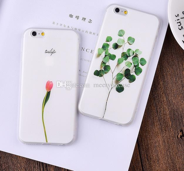 ce7268fbfcb 3D Relief Leaf Cartoon Case For Iphone 6 Case Cute Plants Leaves Flower  Floral TPU Soft Back Cover Phone Cases For Iphone 6S 6 7 8 Plus X Phones  Cases ...