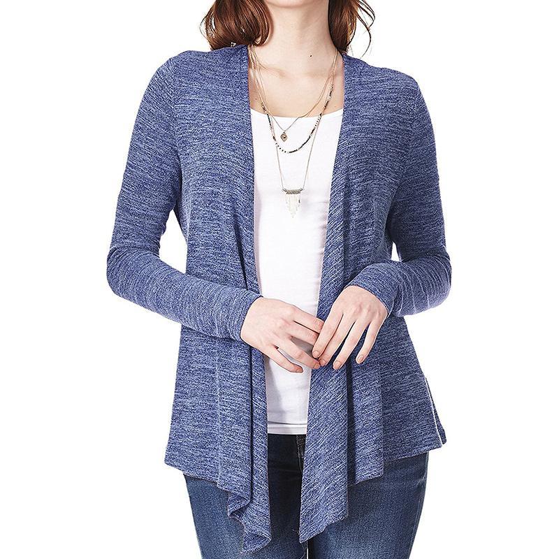 nueva productos cfb18 6a627 De punto para mujer Otoño Cardigan Femme elegante otoño básico sólido 5  colores oficina trabajo informal ropa de abrigo WS9136Y