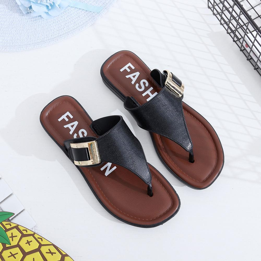 d9ba78ba75bba3 Fashion 2018 Brand Women Slides Flip Flops Sandals Female Indoor Home  Slippers Casual Summer Comfortable Woman Flats Beach Shoes Shoe Sale Suede  Boots From ...