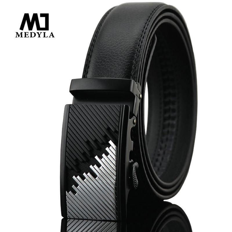 Compre Medyla Men Belt Marcas Correa De Cuero Genuino Para Hombre Cinturón  De Piel De Vaca Hombre Hebilla Automática Cuero De Vaca Marcas De Lujo  Diseño ... b98b23c6e7aa