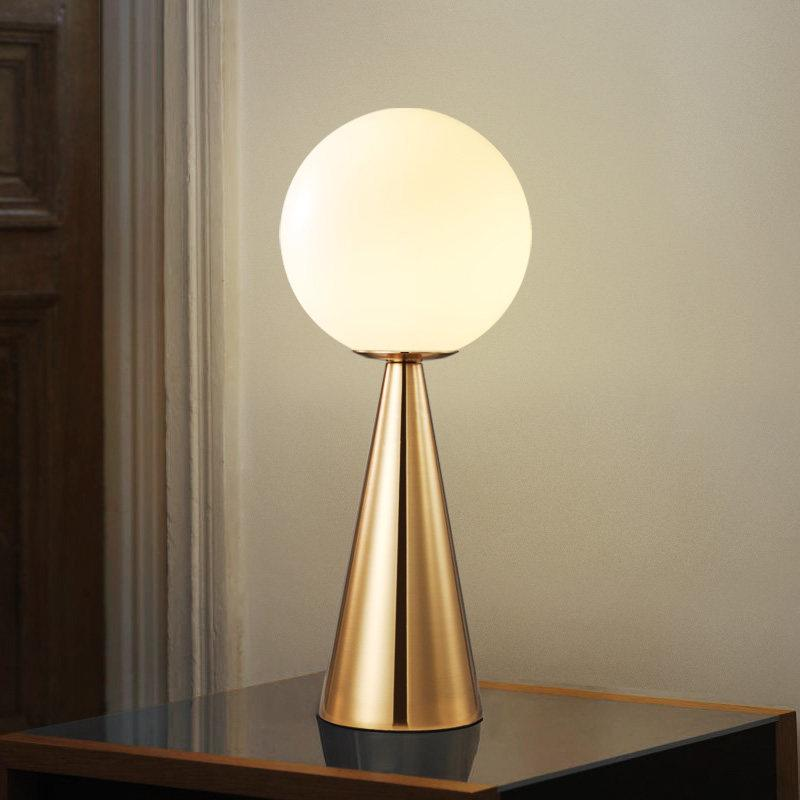 2019 Nordic Glass Ball Desk Lamp Led Globe Table Lamps Bedside