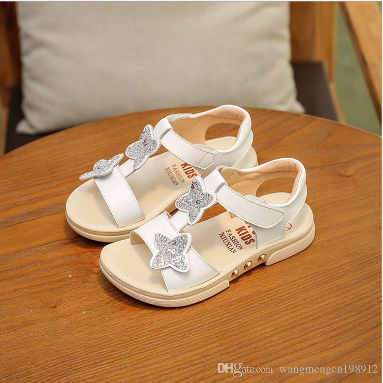 Girls Sandals 2018 New Summer Korean Princess Shoes Big girls Girls Baby Soft bottom Children's beach shoes