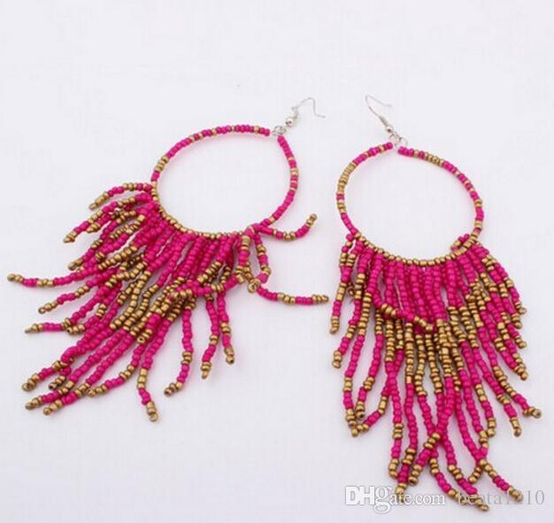 Wholesale Dangle Earrings for Women Girls Korean Fashion 2018 Ear Rings Flower Costume Jewelry Stores Charming Gift Ideas Mix Colors