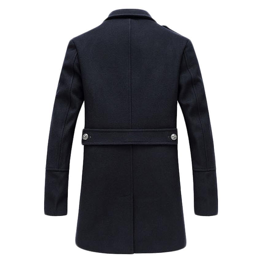 hiver célèbre marque manteau de laine mens long trench coat veste survêtement manteaux hommes laine mélanges 170hfx