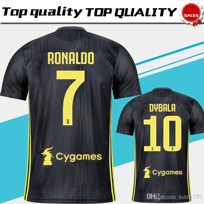 Juventus Third Soccer Jersey 18 19  7 RONALDO 3rd Soccer Shirt 10 ... 0d7c34aa2455c