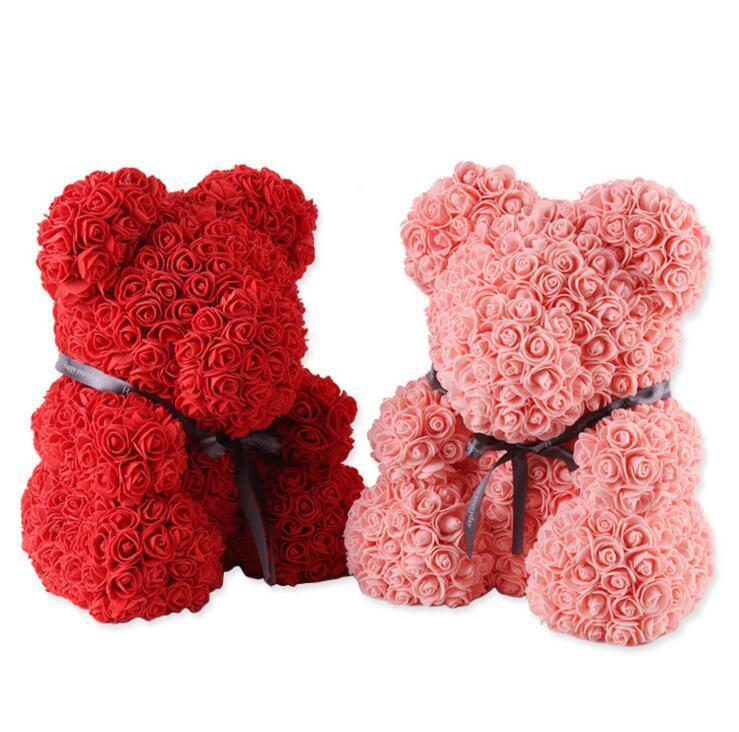 2019 Soap Rose Bear Wedding Party Decoration Valentines Day Gift