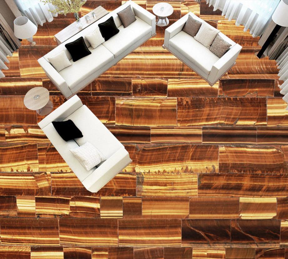3d Floor Pvc Vinyl Flooring Wood Custom Waterproof Self Adhesive Roll Wallpaper Fire For Ktv Hotel Nature Wallpapers From