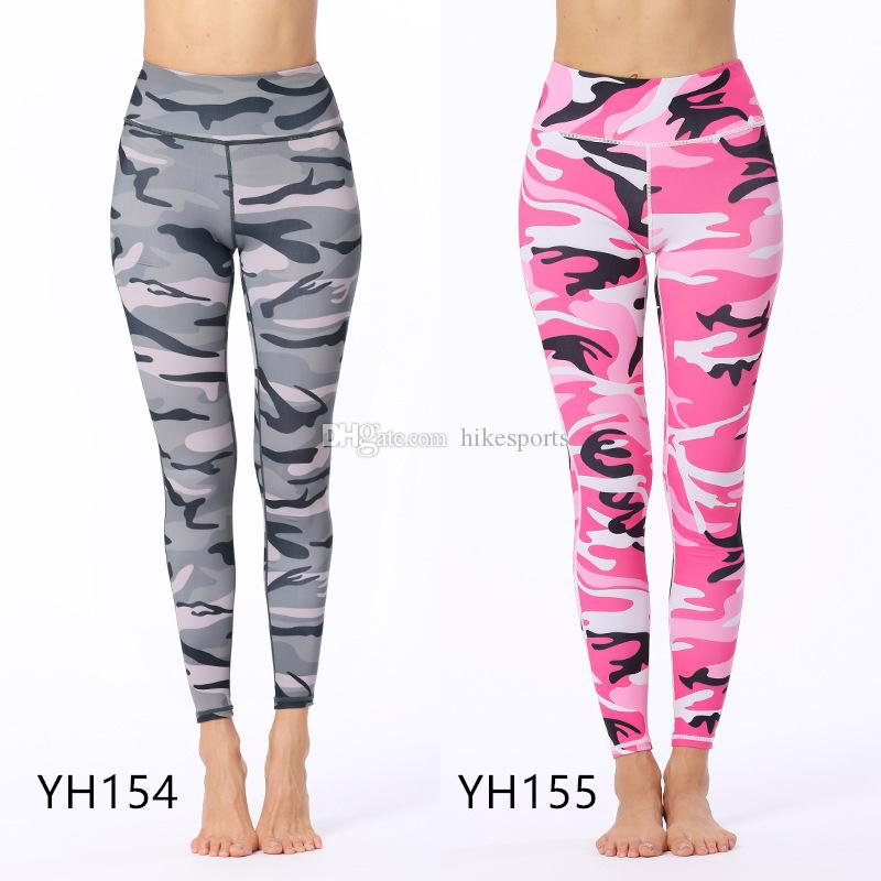 9dfc760e555ee3 2019 Womens Fitness Workout Skinny Pants Camo Sports Leggings Yoga Sport  Tights Camouflage Digital Print Ankle Length Pants High Waist Sweatpants  From ...