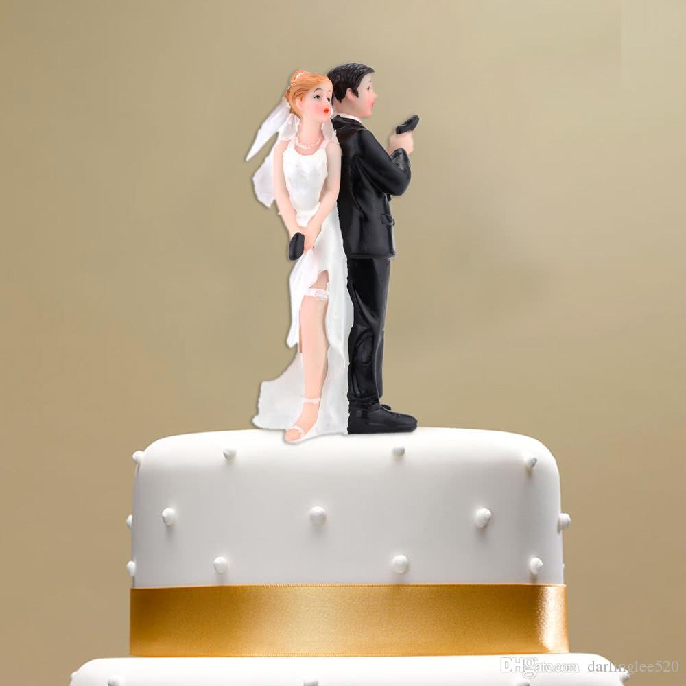 Grosshandel Kunstharz Hochzeitstorte Topper Braut Brautigam Paar Mit