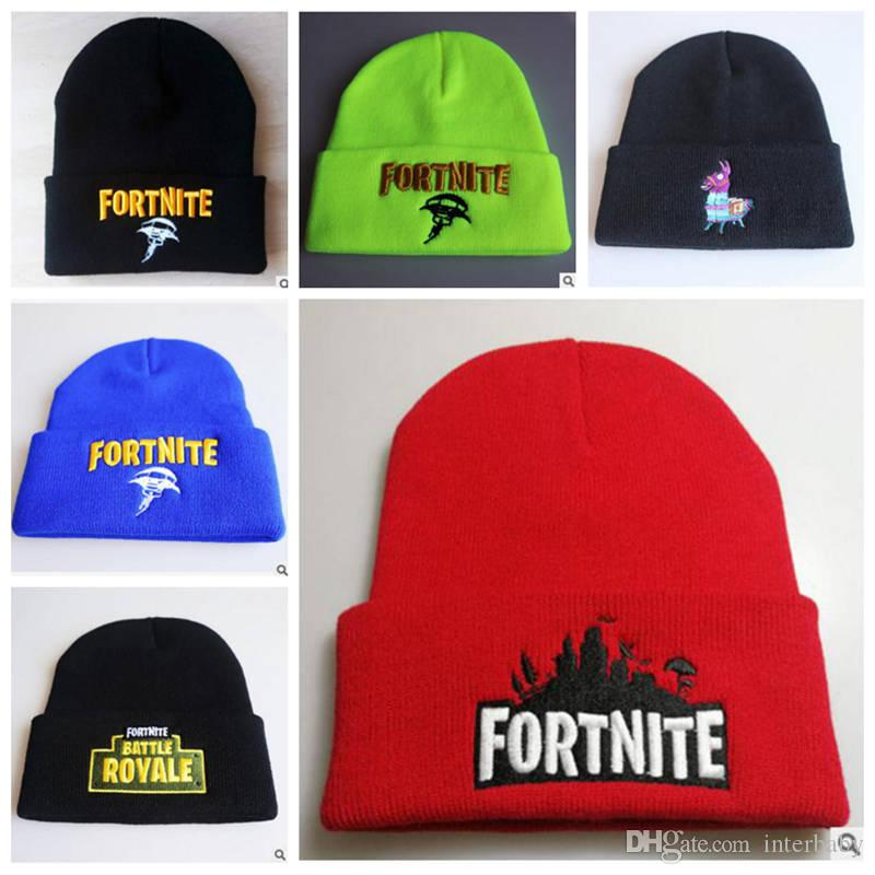 d7694bcd524 Fortnite Skull Beanie Hats Fortnite Battle Knitted Beanies Designer  Embroidery Llama Knitted Caps Teenager Winter Warm Hat 33 Styles YL812  Fortnite Skull ...
