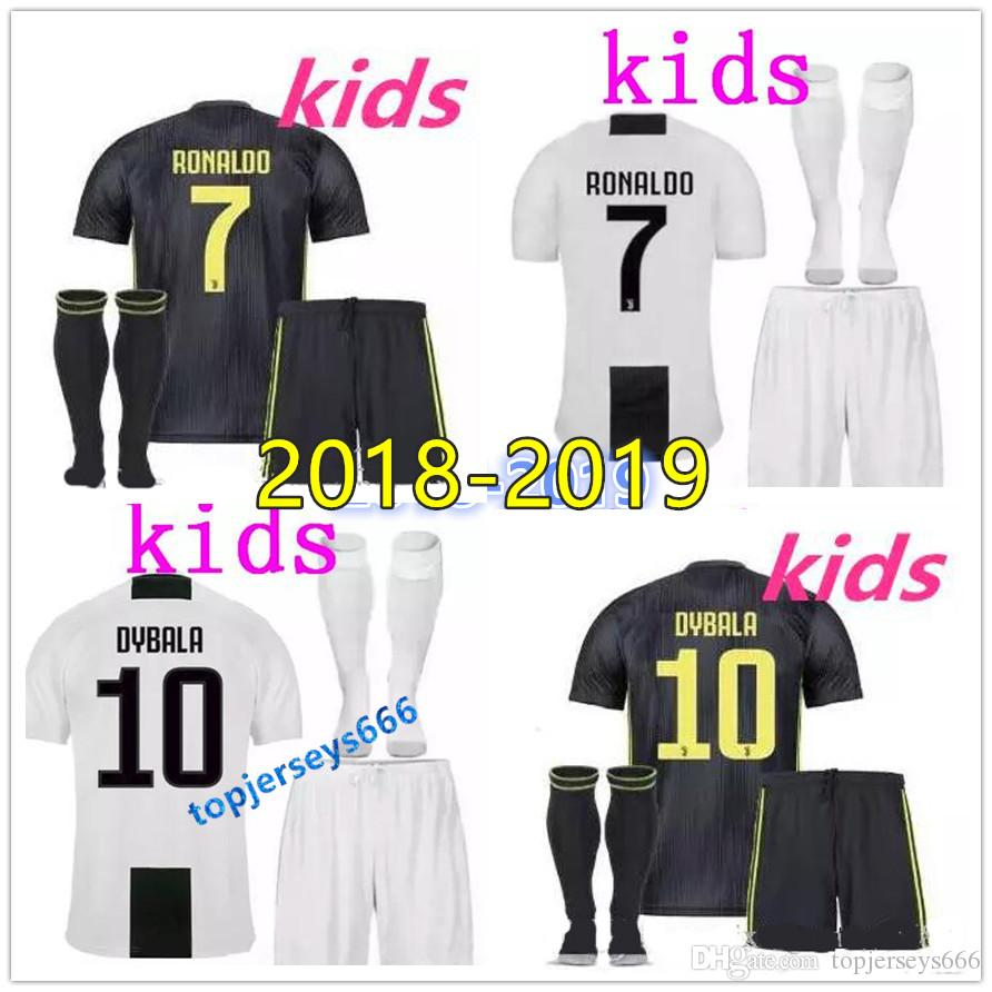 eca06caf3 2019 18 19 Juventus RONALDO DYBALA HIGUAIN Kids Kit Soccer Jersey 2018 19  Juve MARCHISIO MANDZUKIC CHIELLINI BUFFON Child Football Shirt Uniform From  ...