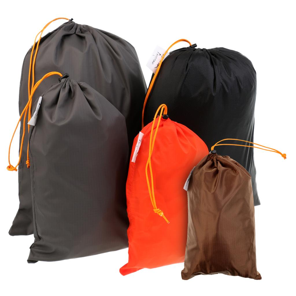daf1353b9 5 Pieces Travel Luggage Organizer Drawstring Clothe hoes Stuff Sack Set for  Safety Hiking Camping Climbing