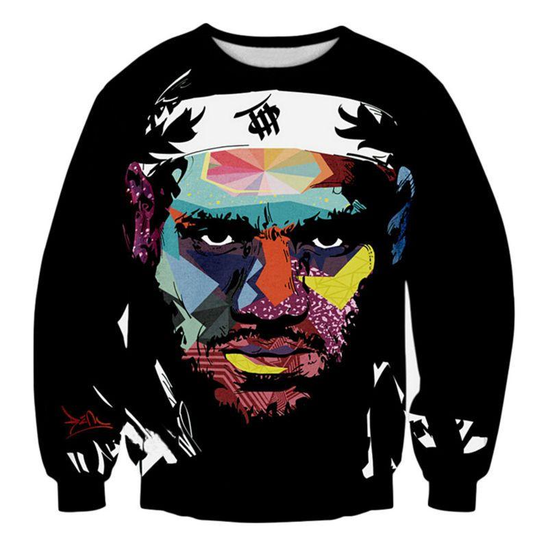 best service d1eed 67a2e Star LeBron James Newest Fashion Men/Women Tops 3d Printing Sweatshirt  Unisxe Funny Long Sleeved 3D Sweatshirt N80