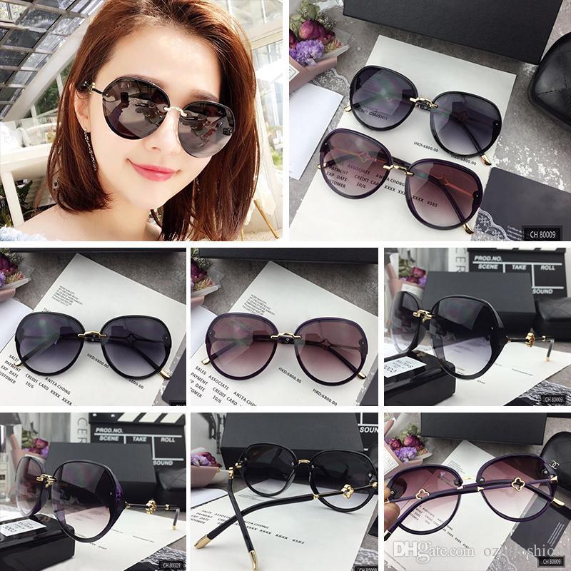 bc6e286d20 Hot Sale 2018 New Sunglasses Women Brand Designer Fashion Summer Sun Glasses  80009 Women S Sunglasses With Box Sunglasses At Night Sunglasses Online  From ...