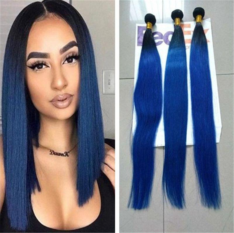 Ombre Brazilian Virgin Hair Bundles Peruvian Indian Malaysian Ombre