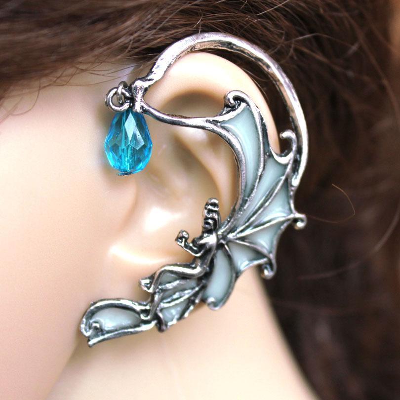 FLOWER Angel Ear Cuff Fairy Ear Cuff GLOW in the DARK Luminous Ear clip earrings Stud Earrings Clip Earrings FOR WOMEN gifts