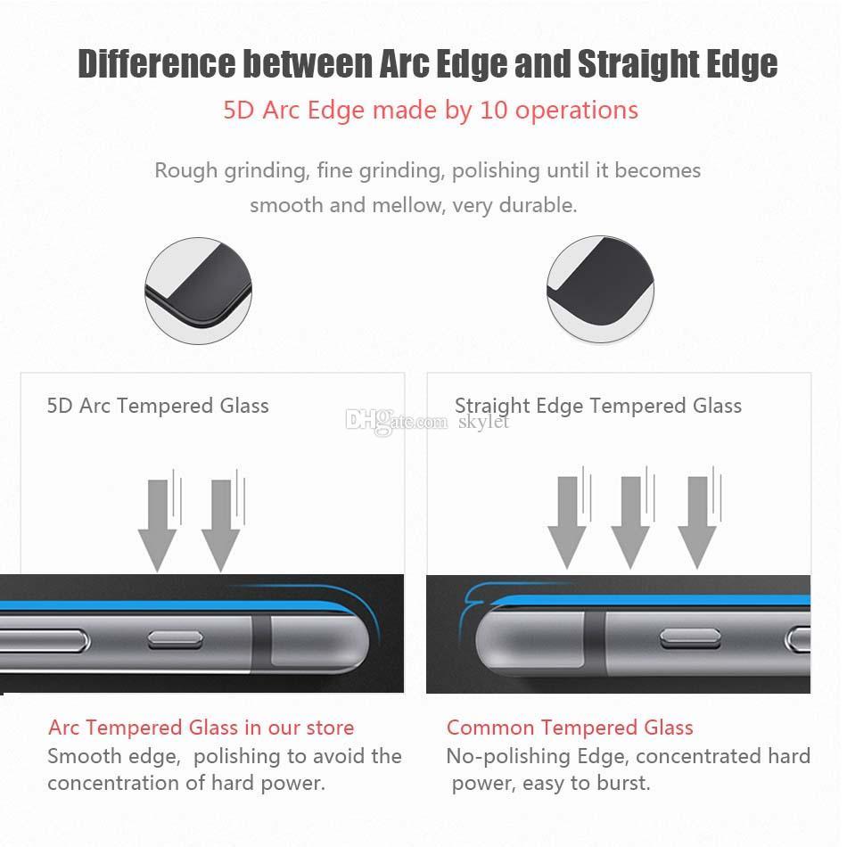 5D Trempé Verre pour iPhone 11 PRO MAX XR XS MAX Protecteur d'écran Full Curved Film Protecteur pour iPhone X 7 8 PLUS avec Box