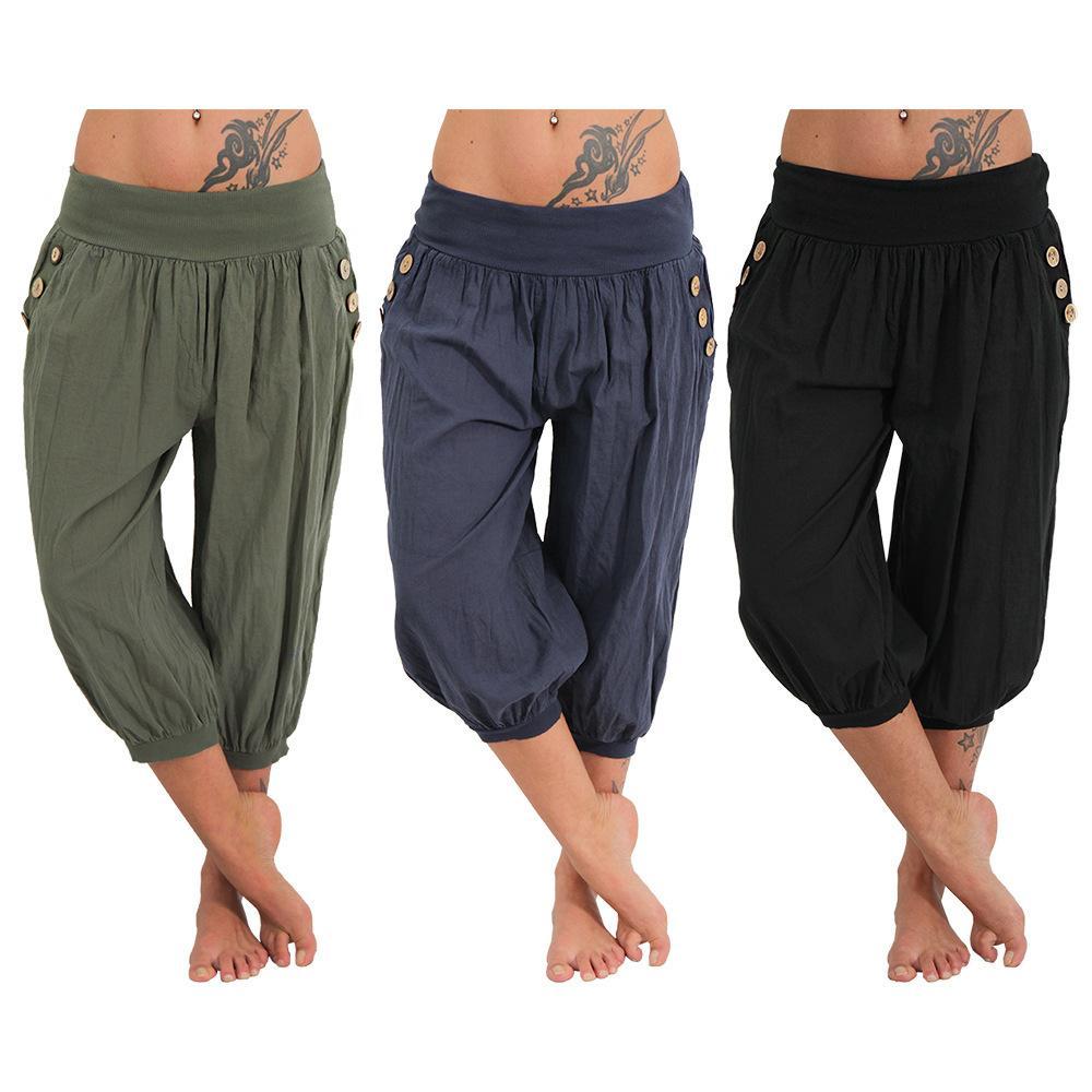 Women Yoga Fitness Wide Leg Pants Women Casual Sports Pants Fashion Harem  Capris Lady Trousers Loose Long Pant Women Yoga Fitness Wide Leg Pants Women  ... 06113bcec97f