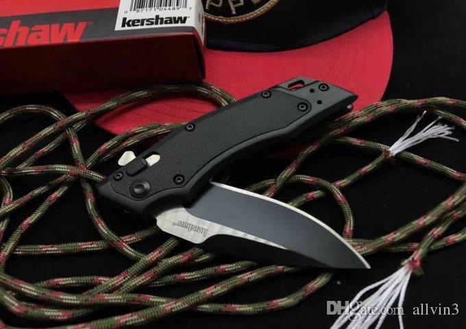 Oferta especial 1905 Kershaw Inducción Hawk Lock Drop Point Blade Cuchillo plegable de aluminio negro Cuchillos EDC con caja al por menor