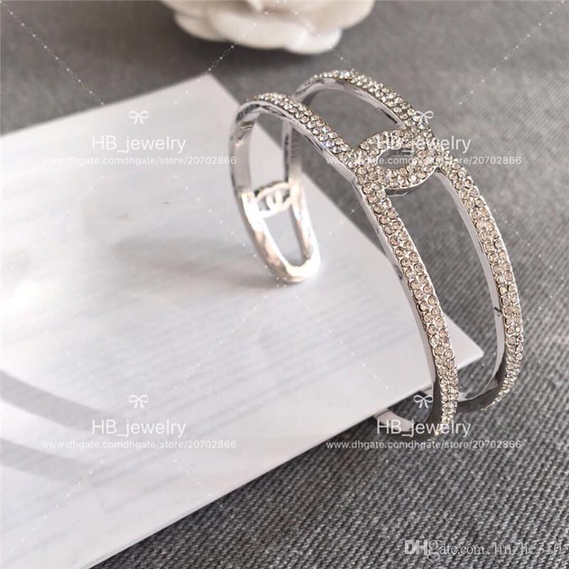 Neues Modedesign CH Volles offenes Armband des Bohrers durch Luxus C Marke für Frauen-Jahrestag Geschenk-Hochzeits-Schmuck für Braut mit Kasten