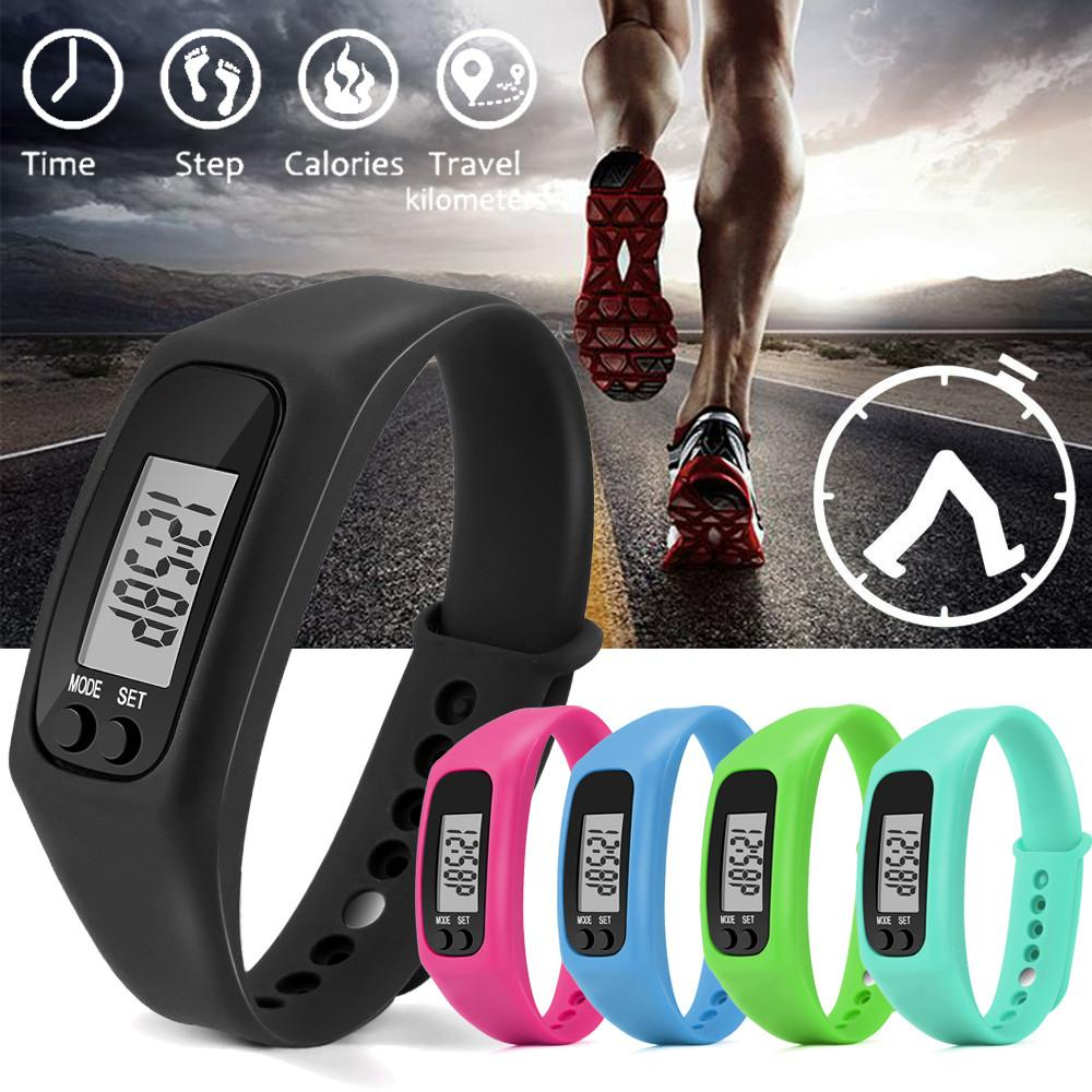 1f333c9ff74 Run Step Watch Bracelet Pedometer Calorie Counter Digital LCD Walking  Distance Men Women Relogio Masculino Esportivo Lover s Watches Cheap  Lover s Watches ...
