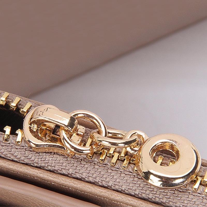 DUDINI PU En Cuir Femmes Portefeuille 5 Couleurs Zipper Multifonction Longs Portefeuilles Dames D'embrayage Sac À Main Pas Cher Porte-Monnaie Porte-Cartes