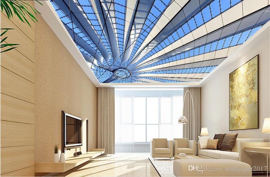 papier peint décoratif peintures murales de style zénith de style européen non tissé papier peint plafond