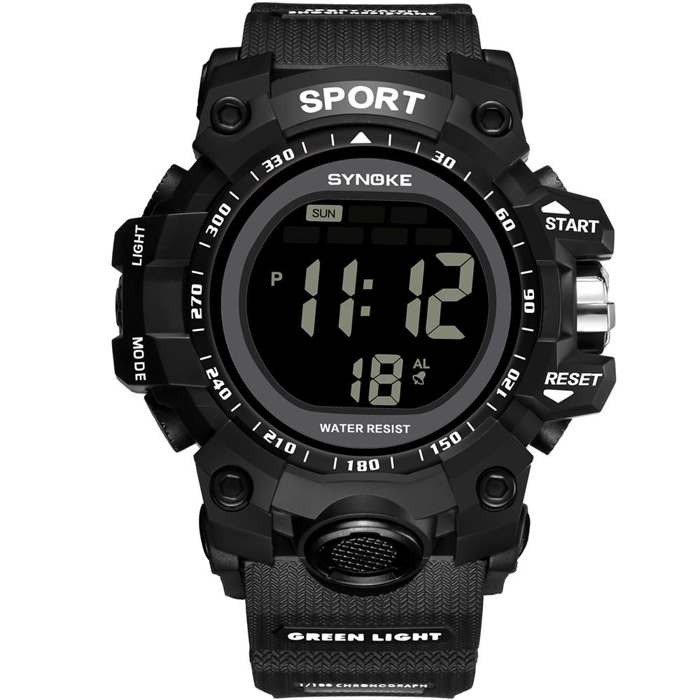 87ee811a2a21 Compre Synoke Reloj Deportivo Multifunción 30 M Reloj Impermeable LED  Digital De Doble Acción Relojes De Moda Para Hombre Para Hombre C8100 A   36.89 Del ...