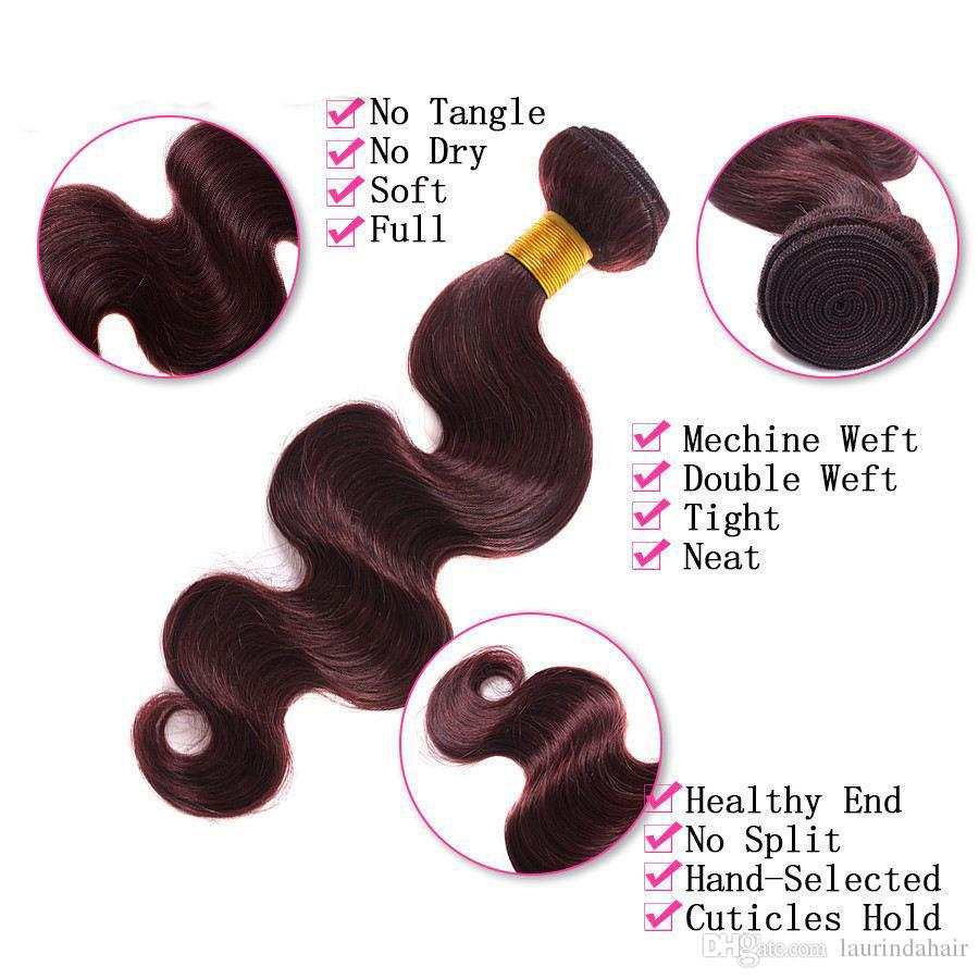99J Lace Closure With Bundles 7A Mink malaysian Body Wave With Closure 3 Bundles Brazilian Virgin Hair With Closure Deals