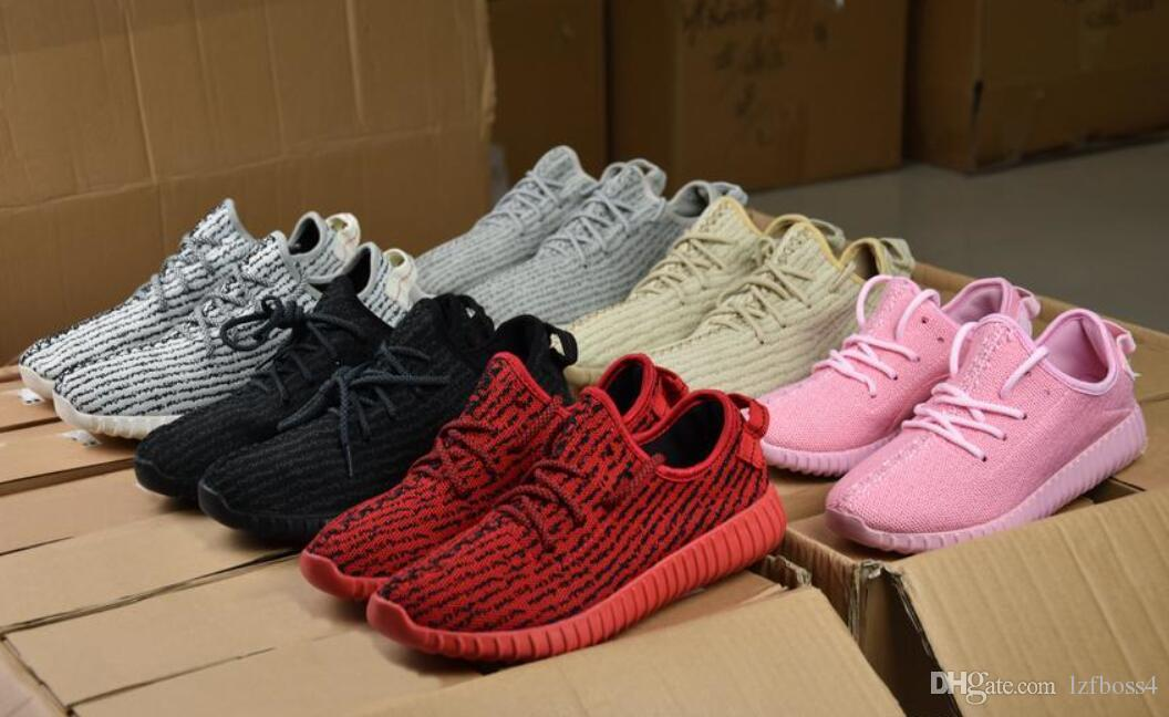 half off 9d45c 52ff5 (with box) Original Quality Kanye West 350 Boost Shoes Pirate Black  Moonrock Oxford Tan White Casual Outdoor Light Running Shoes