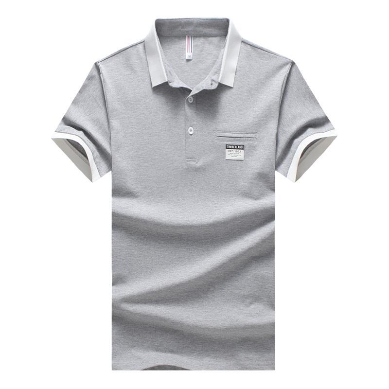 Homens Camisa Polo Homens de Negócios Casuais Sólidos Polo de Manga Curta Camisa de Manga Curta de Algodão Respirável Jerseys Golftennis Plus Size5XL