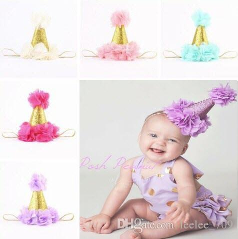 baby flower crown headbands for girls gold crown hairband kids diy hair accessories birthday princess Headbands newborn photography props