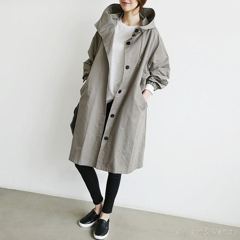 0cc19ea93 2019 2017 Women Thin And Light Trench Spring Autumn Cloak Cardigan ...